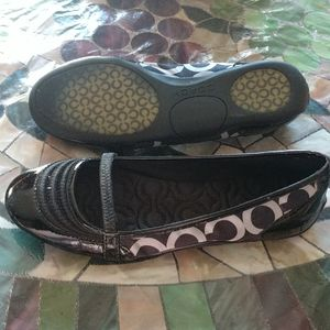 Coach Black and Gray Flats Size 7.5